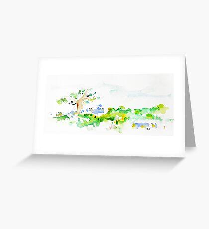Open Field Greeting Card