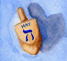 Dreidel - Hay, Halb, Half by Amy-Elyse Neer