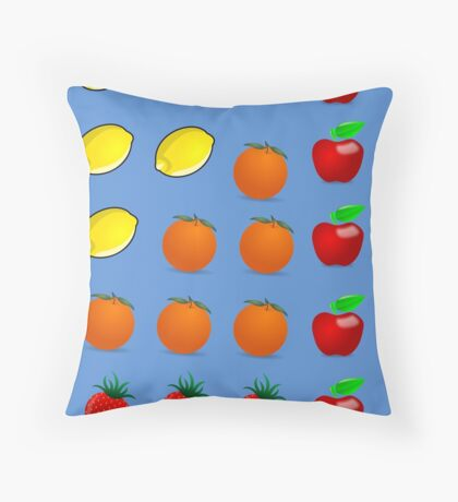 Delicious Fruits Throw Pillow