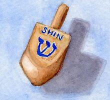 Dreidel - Shin, Shteln, Put by Amy-Elyse Neer