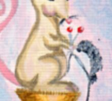 Miss Mouse Knitting Sticker