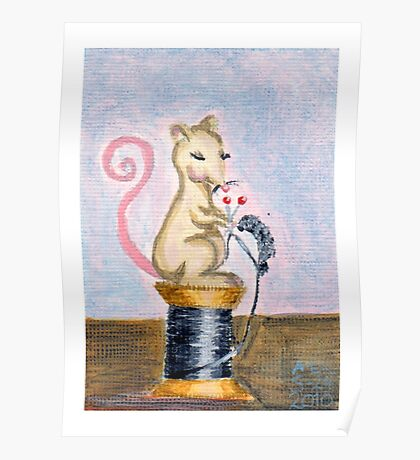 Miss Mouse Knitting Poster