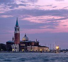 Evening Light - Church of San Giorgio Maggiore, Venice by Ann Garrett