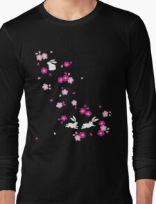 Japanese Bunny - Pink Long Sleeve T-Shirt