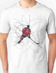 Ice hockey player in red dress Unisex T-Shirt