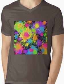 Splattah in Black Mens V-Neck T-Shirt