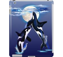 Two Leaping Orcas iPad Case/Skin