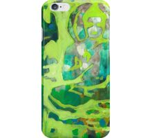 Meditating Buddha contemporary spiritual abstract iPhone Case/Skin