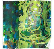 Meditating Buddha contemporary spiritual abstract Poster