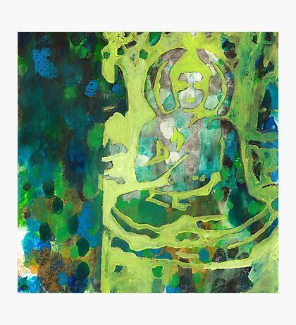 Meditating Buddha contemporary spiritual abstract Photographic Print