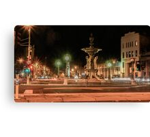 Light Trails at the Alexandra Fountain and View Point, Bendigo Canvas Print