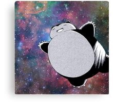 Snorlax In Space Canvas Print