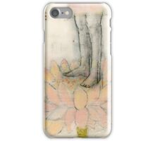 Stepping Into Lotus yoga inspired art iPhone Case/Skin