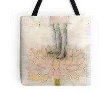 Stepping Into Lotus yoga inspired art Tote Bag