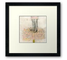 Stepping Into Lotus yoga inspired art Framed Print