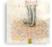 Stepping Into Lotus yoga inspired art Canvas Print