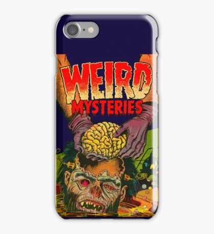 Weird Mysteries Comic cover iPhone Case/Skin