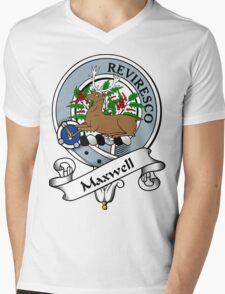 00099 Maxwell Clan/Family Tartan  Mens V-Neck T-Shirt