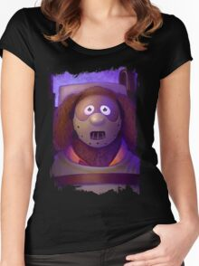 Muppet Maniac - Rowlf Lecter Women's Fitted Scoop T-Shirt