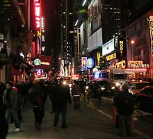 Friday Night Live - Times Square, New York City by Terence Wilson