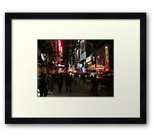 Friday Night Live - Times Square, New York City Framed Print