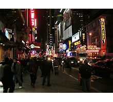 Friday Night Live - Times Square, New York City Photographic Print