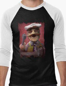 Muppet Maniacs - Swedish Chef as Leatherface Men's Baseball ¾ T-Shirt