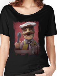 Muppet Maniacs - Swedish Chef as Leatherface Women's Relaxed Fit T-Shirt