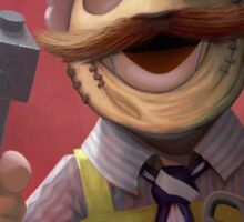 Muppet Maniacs - Swedish Chef as Leatherface Sticker