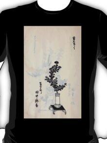 Yenshu ryu ikebana hiak bin no zu shiki konzatsu Flower arrangement in the Enshu style V2 1897 0012 T-Shirt