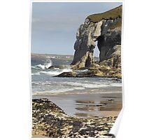 White Rock Beach Ireland Poster