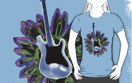 Guitar and Sunflower 1 by fatgoose