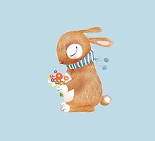 Bunny with Bouquet by jjsgarden