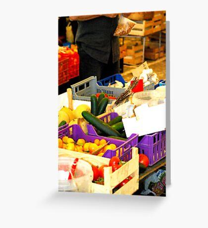 Vegtables, Lagos Weekly Market, Portugal Greeting Card