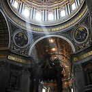 Inside St. Peter's Basilica, Vatican City by Laura Cooper