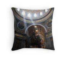 Inside St. Peter's Basilica, Vatican City Throw Pillow
