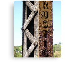 BANNER FOR RUSTIC Canvas Print