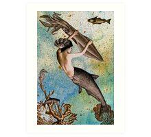 Aquamarina the Mermaid Art Print