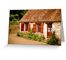 Lovely Red Door Greeting Card