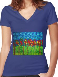 Fruit Orchard Women's Fitted V-Neck T-Shirt