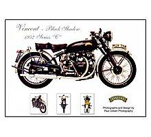 Vincent - Black Shadow - 1952 Series 'C' Photographic Print
