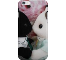 Sylvanian Families ~ Cat Couple in Love iPhone Case/Skin