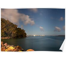 Port Stephens by Moonlight Poster