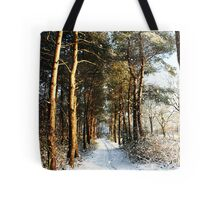 Forest Snow Scene Tote Bag