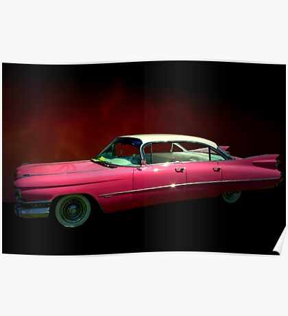 "1959 Cadillac Series 62 Hardtop  ""Pretty In Pink""  Poster"
