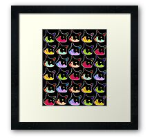All of the Electric Tuxie Faces Framed Print