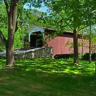 Lime Valley Mill Covered Bridge by Monte Morton