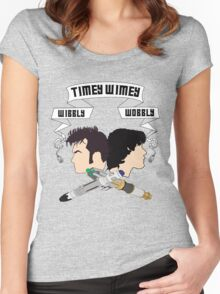 Timey Wimey Doctors Women's Fitted Scoop T-Shirt