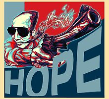 Hunter S. Thompson: Hope II by Unaustralian