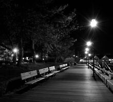 Boardwalk at Night by Sam Davis